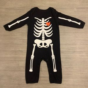 Baby Halloween Bones One Piece Outfit